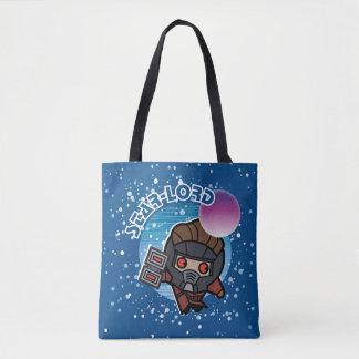 Kawaii Star-Lord In Space Tote Bag