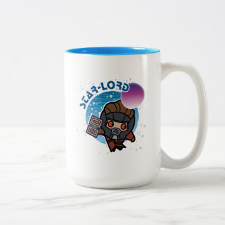 Kawaii Star-Lord In Space Two-Tone Coffee Mug