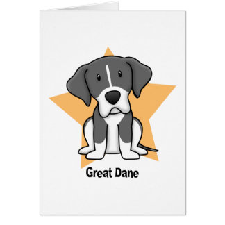 Kawaii Star Mantle Great Dane Card
