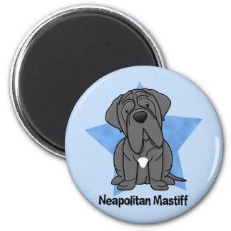 Kawaii Star Neapolitan Mastiff 6 Cm Round Magnet