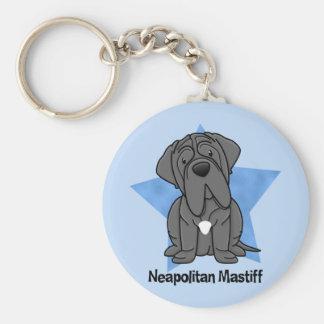 Kawaii Star Neapolitan Mastiff Basic Round Button Key Ring