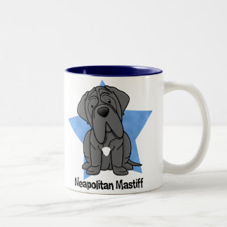 Kawaii Star Neapolitan Mastiff Two-Tone Coffee Mug