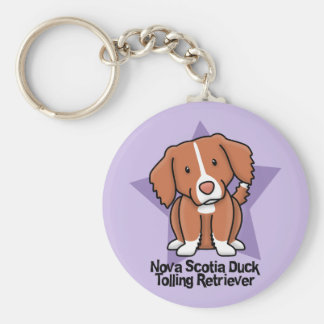 Kawaii Star Nova Scotia Duck Tolling Retriever Basic Round Button Key Ring