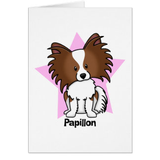 Kawaii Star Papillon Greeting Card