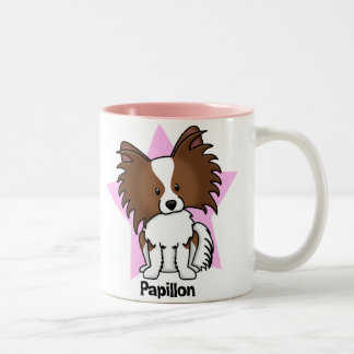 Kawaii Star Papillon Two-Tone Coffee Mug