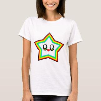 KAWAII STAR RAINBOW HAPPY FACE LUCKY T-Shirt
