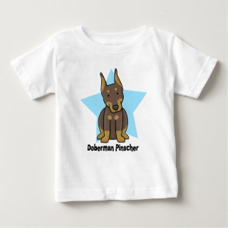 Kawaii Star Red Doberman Pinscher Baby Baby T-Shirt