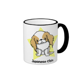 Kawaii Star Red Japanese Chin Ringer Coffee Mug