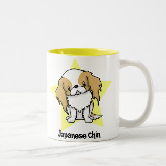 Kawaii Star Red Japanese Chin Two-Tone Coffee Mug