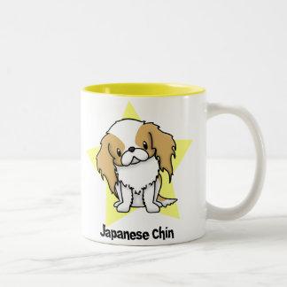 Kawaii Star Red Japanese Chin Two-Tone Coffee Mug