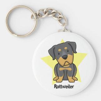 Kawaii Star Rottweiler Keychains