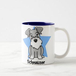 Kawaii Star Schnauzer Coffee Mugs