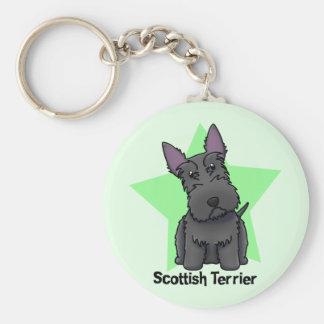 Kawaii Star Scottish Terrier Key Chain
