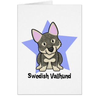 Kawaii Star Swedish Vallhund Card