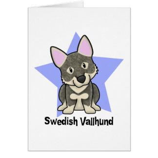 Kawaii Star Swedish Vallhund Greeting Card