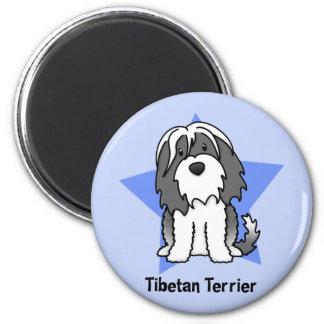 Kawaii Star Tibetan Terrier 6 Cm Round Magnet