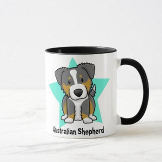 Kawaii Star Tri Australian Shepherd Mug