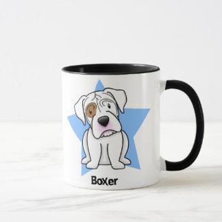 Kawaii Star White Boxer Mug