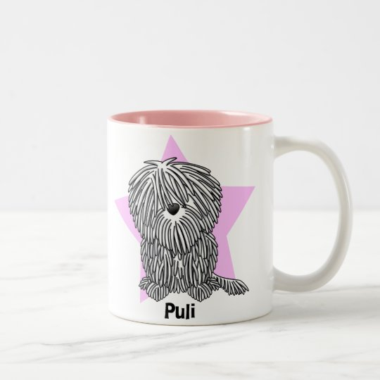 Kawaii Star White Puli Two-Tone Coffee Mug