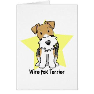 Kawaii Star Wire Fox Terrier Greeting Card