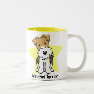 Kawaii Star Wire Fox Terrier Two-Tone Coffee Mug