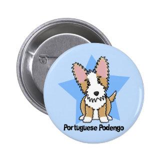 Kawaii Star Wire Portuguese Podengo 6 Cm Round Badge