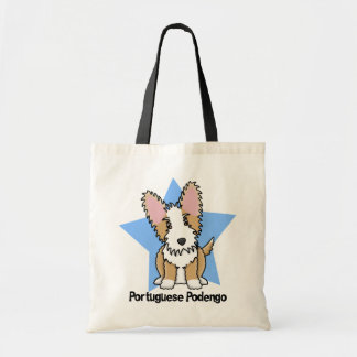 Kawaii Star Wire Portuguese Podengo Budget Tote Bag