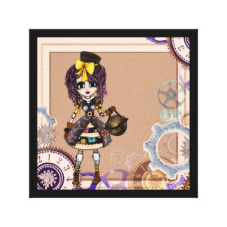 Kawaii Steampunk Lolita girly PinkyP Stretched Canvas Print
