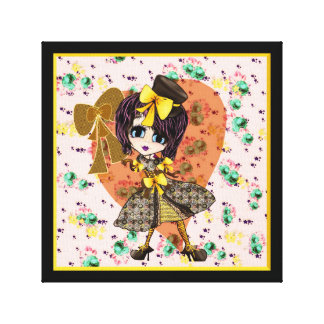 Kawaii Steampunk Lolita girly PinkyP Stretched Canvas Prints