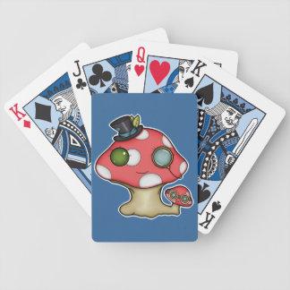 Kawaii Steampunk Mushroom Bicycle Card Deck