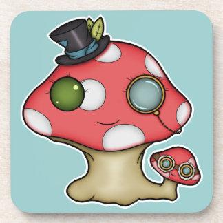 Kawaii Steampunk Mushroom Drink Coaster