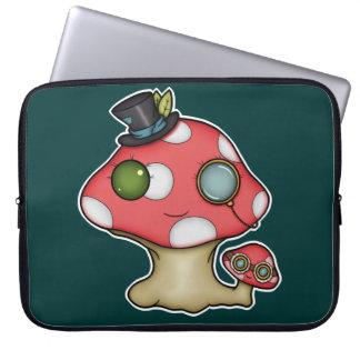 Kawaii Steampunk Mushroom Laptop Sleeve