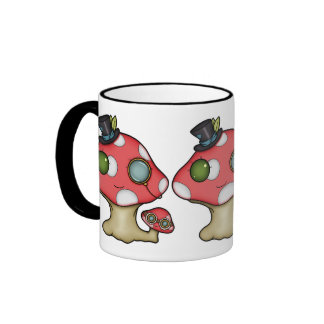 Kawaii Steampunk Mushroom Coffee Mug