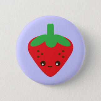 Kawaii Strawberry 6 Cm Round Badge