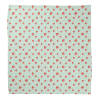 Kawaii Strawberry and Flowers Bandana