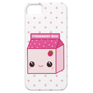 Kawaii strawberry milk carton iPhone 5 case
