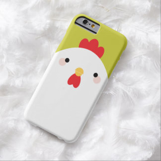Kawaii Style White Chicken on Green Barely There iPhone 6 Case