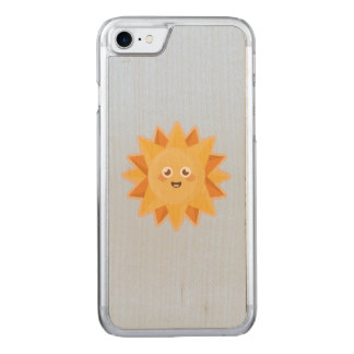 Kawaii Sun Carved iPhone 8/7 Case