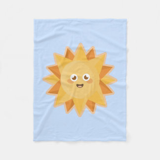 Kawaii Sun Fleece Blanket