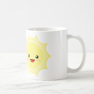 Kawaii Sun Basic White Mug