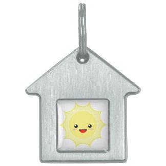 Kawaii Sun Pet Name Tag