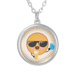 Kawaii Sun Round Pendant Necklace