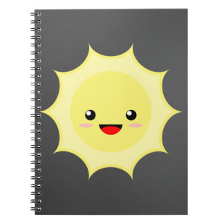Kawaii Sun Spiral Note Book