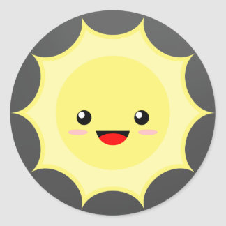 Kawaii Sun Round Sticker
