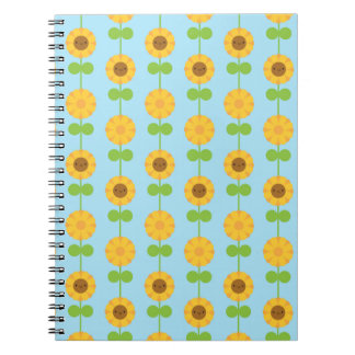 Kawaii Sunflowers Spiral Note Book