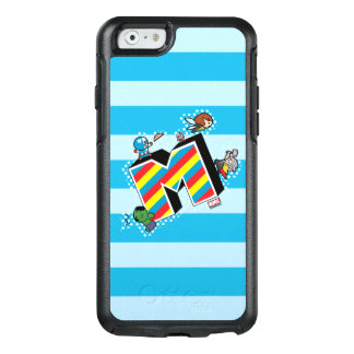 Kawaii Super Heroes on Striped M OtterBox iPhone 6/6s Case
