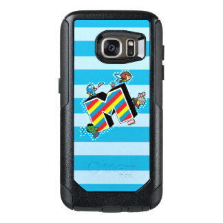 Kawaii Super Heroes on Striped M OtterBox Samsung Galaxy S7 Case