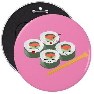 Kawaii Sushi 6 Cm Round Badge