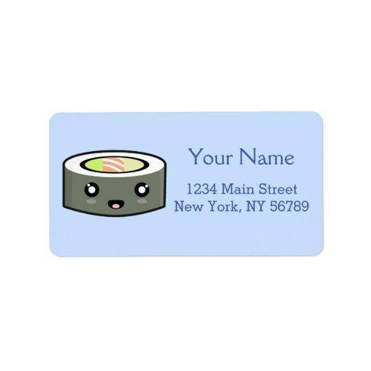 Kawaii Sushi Address Label