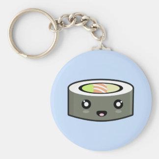 Kawaii Sushi Basic Round Button Key Ring